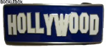 HOLLYWOOD SIGN Belt Buckle + display stand